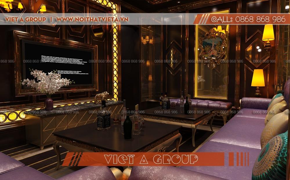 Phòng hát karaoke diện tích 15 m2 sang trọng đẳng cấp.