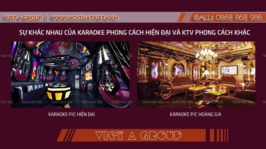 Phòng karaoke hiện đại và karaoke Hoàng Gia