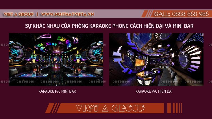 Karaoke hiện đại và karaoke mini bar
