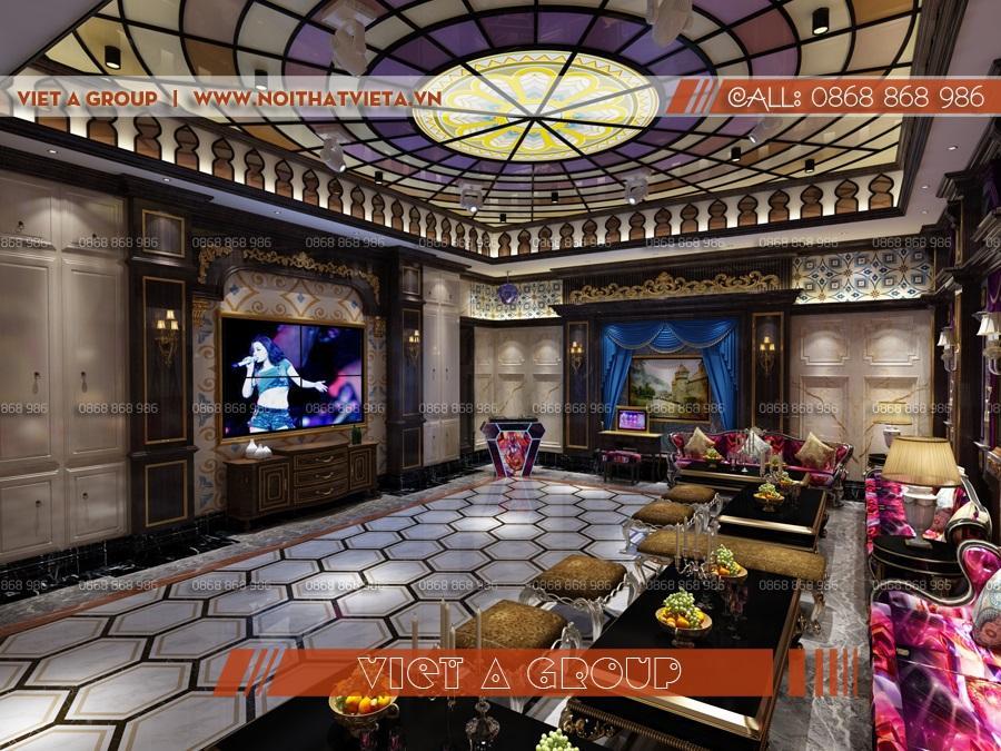 Phòng karaoke vip phong cách sang trọng luxury