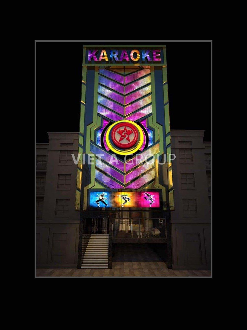 Biển quảng cáo quán karaoke Star - theo phong cách hiện đại