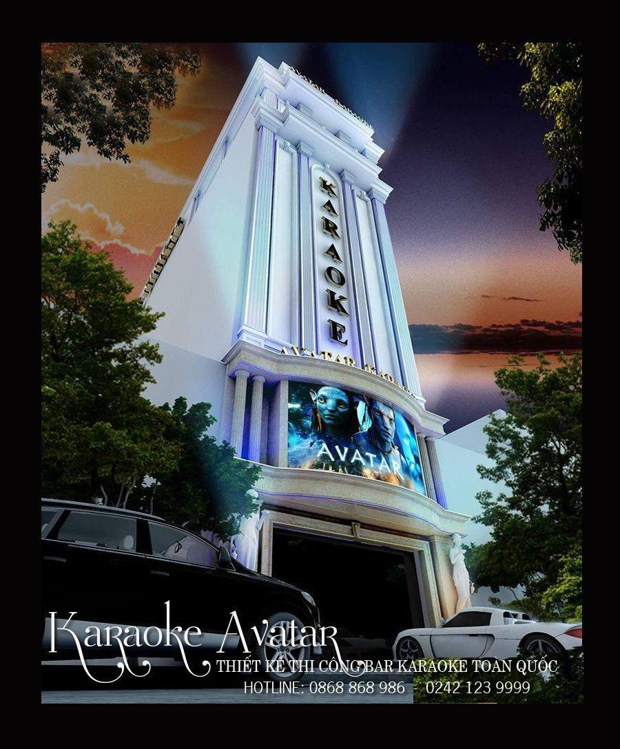 Mặt tiền tân cổ điển đơn giản cho quán karaoke Avatar- TP Vinh