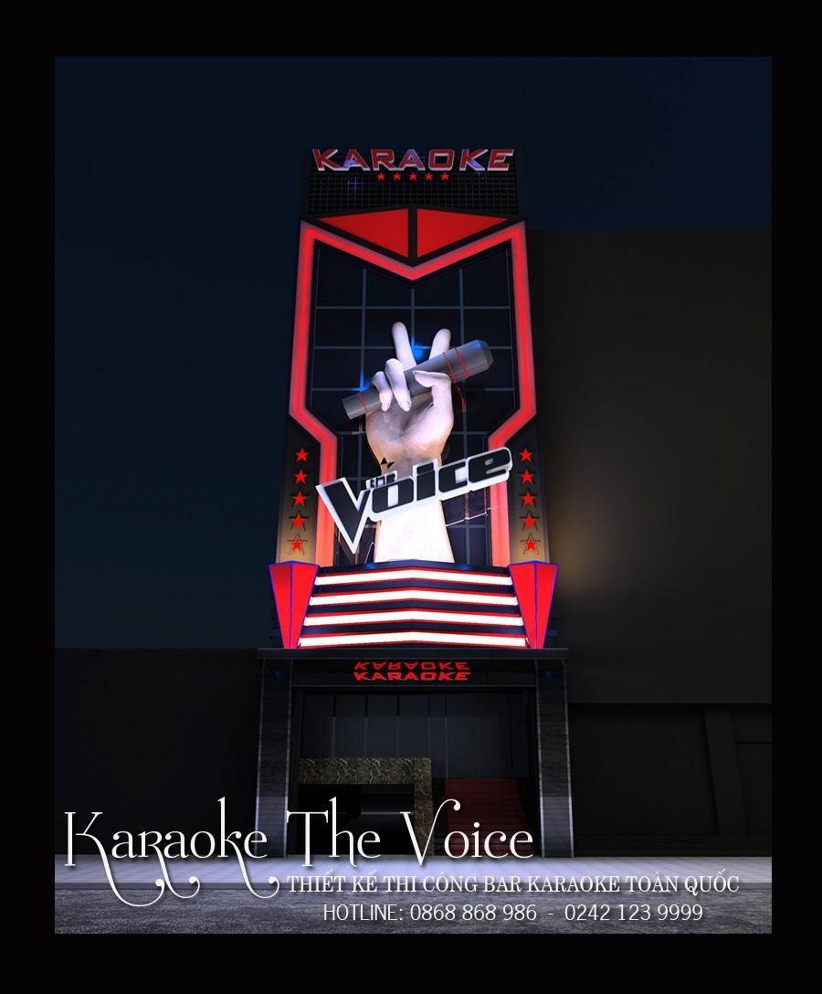 Mặt tiền hoành tráng bậc nhất quận Cầu Giấy, Hà Nội cho quán karaoke The Voice