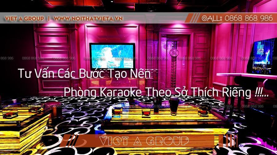 Thiết kế phòng karaoke theo sở thích riêng
