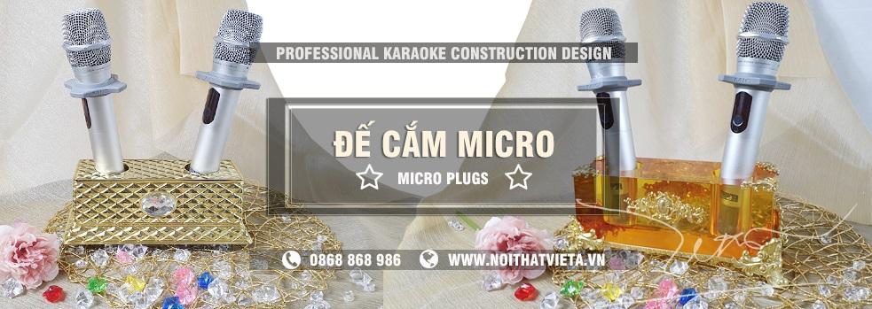 Đế cắm Micro cao cấp chuyên dùng cho phòng karaoke