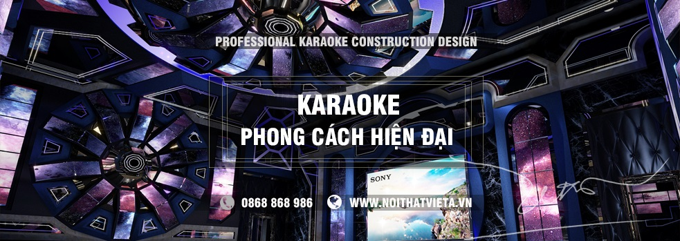 Phòng karaoke theo phong cách hiện đại