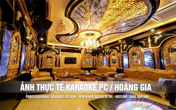 Những hình ảnh phòng karaoke Hoàng Gia đã hoàn thiện