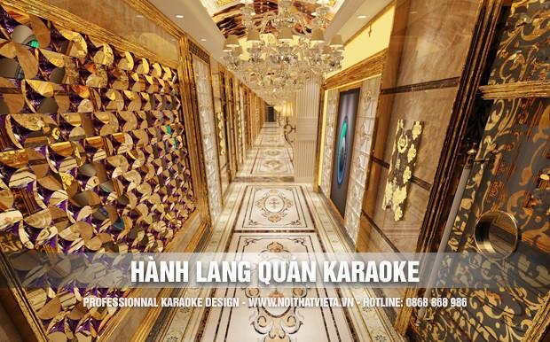 Giới thiệu một số mẫu hành lang quán karaoke đẹp