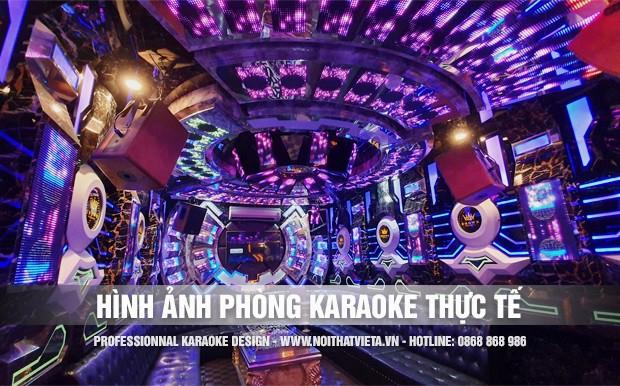 Một số hình ảnh thực tế phòng karaoke đã thi công