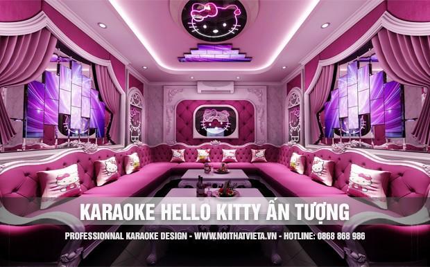 Phòng hát karaoke theo ý tưởng Hello Kitty