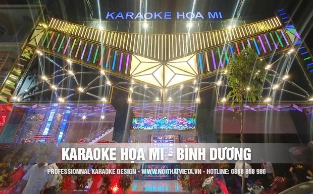 Công trình karaoke Họa Mi, Bến Cát, Bình Dương