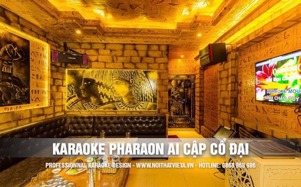 Thiết kế quán karaoke ý tưởng Paraon Ai Cập cổ đại