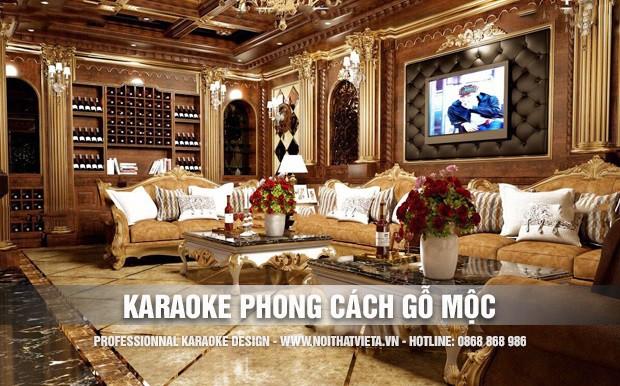 Thiết kế karaoke theo phong cách Gỗ Mộc đẳng cấp