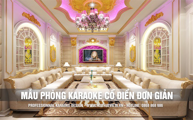 Giới thiệu một số mẫu phòng karaoke cổ điển đơn giản