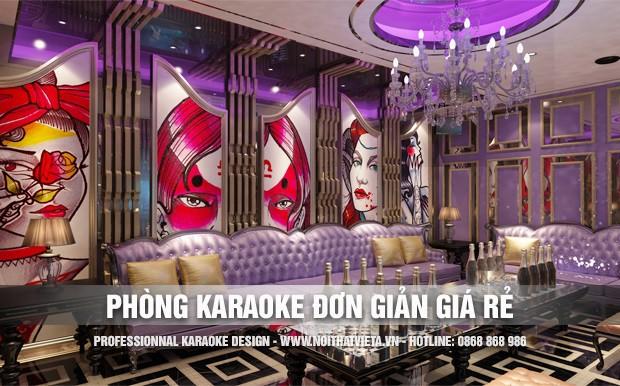 Mẫu phòng karaoke thiết kế đơn giản rẻ đẹp