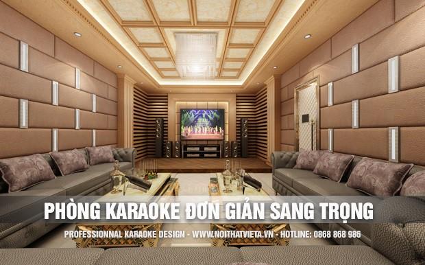 Mẫu phòng karaoke đẹp nhẹ nhàng sang trọng tinh tế