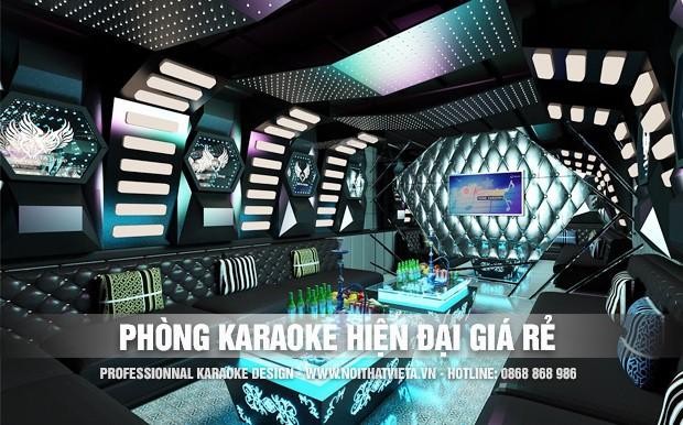 Mẫu phòng karaoke hiện đại đơn giản giá rẻ