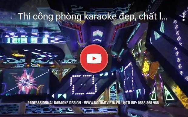 Video phòng karaoke màn hình led hiện đại tại Việt Á