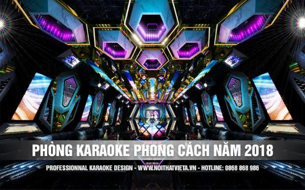 Mẫu thiết kế phòng hát karaoke xu thế của năm 2018