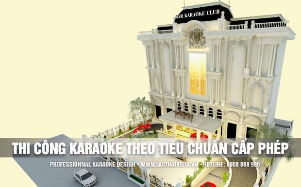 Thi công karaoke đúng tiêu chuẩn để được cấp phép