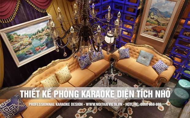 Thiết kế phòng karaoke diện tích nhỏ từ 12 đến 15 m2 sàn
