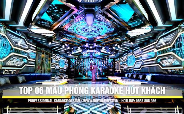 Top 6 mẫu phòng karaoke đẹp mê ly hút khách