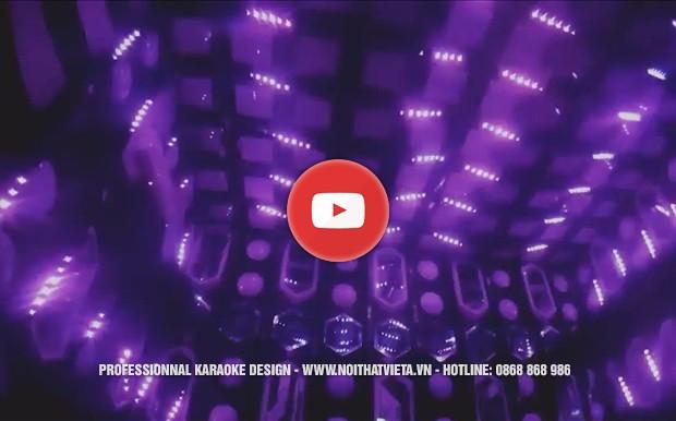 Phòng karaoke hiện đại sử dụng led full nháy theo nhạc