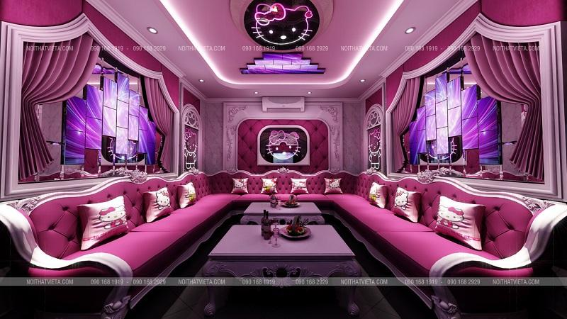 Mẫu phòng karaoke hello kity