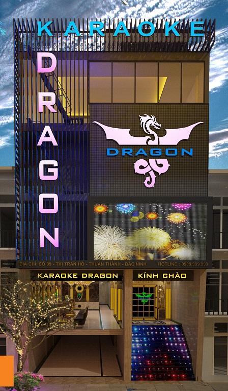 Mặt tiền quán Karaoke Dragon Bac Ninh