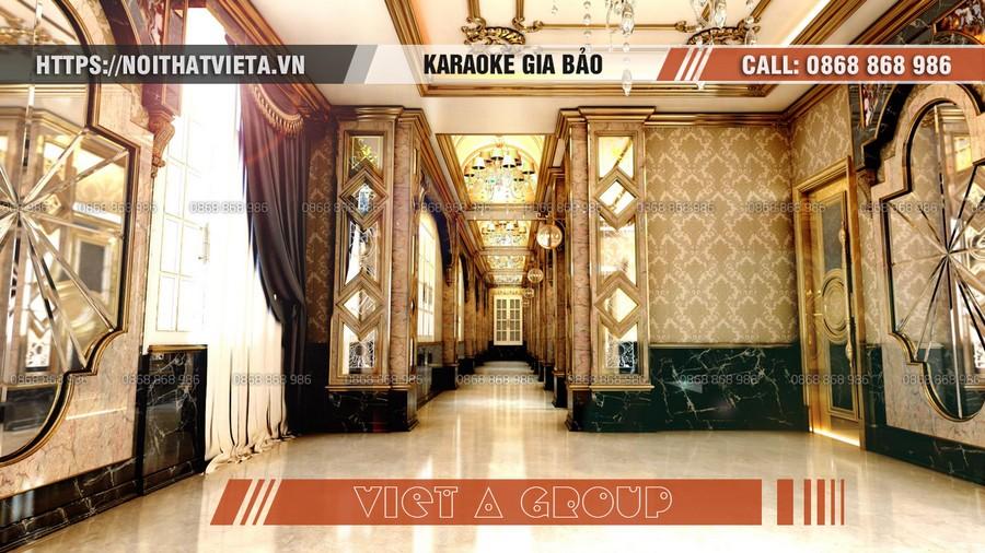 Hành lang quán karaoke Gia Bảo