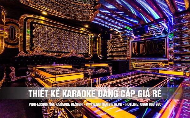 Thiết kế phòng karaoke đẳng cấp nhưng giá rẻ