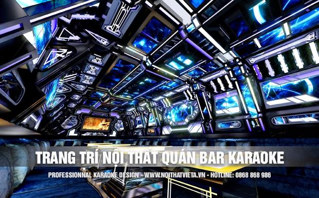 Trang trí nội thất quán bar karaoke